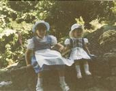 Us in Germany when we were little